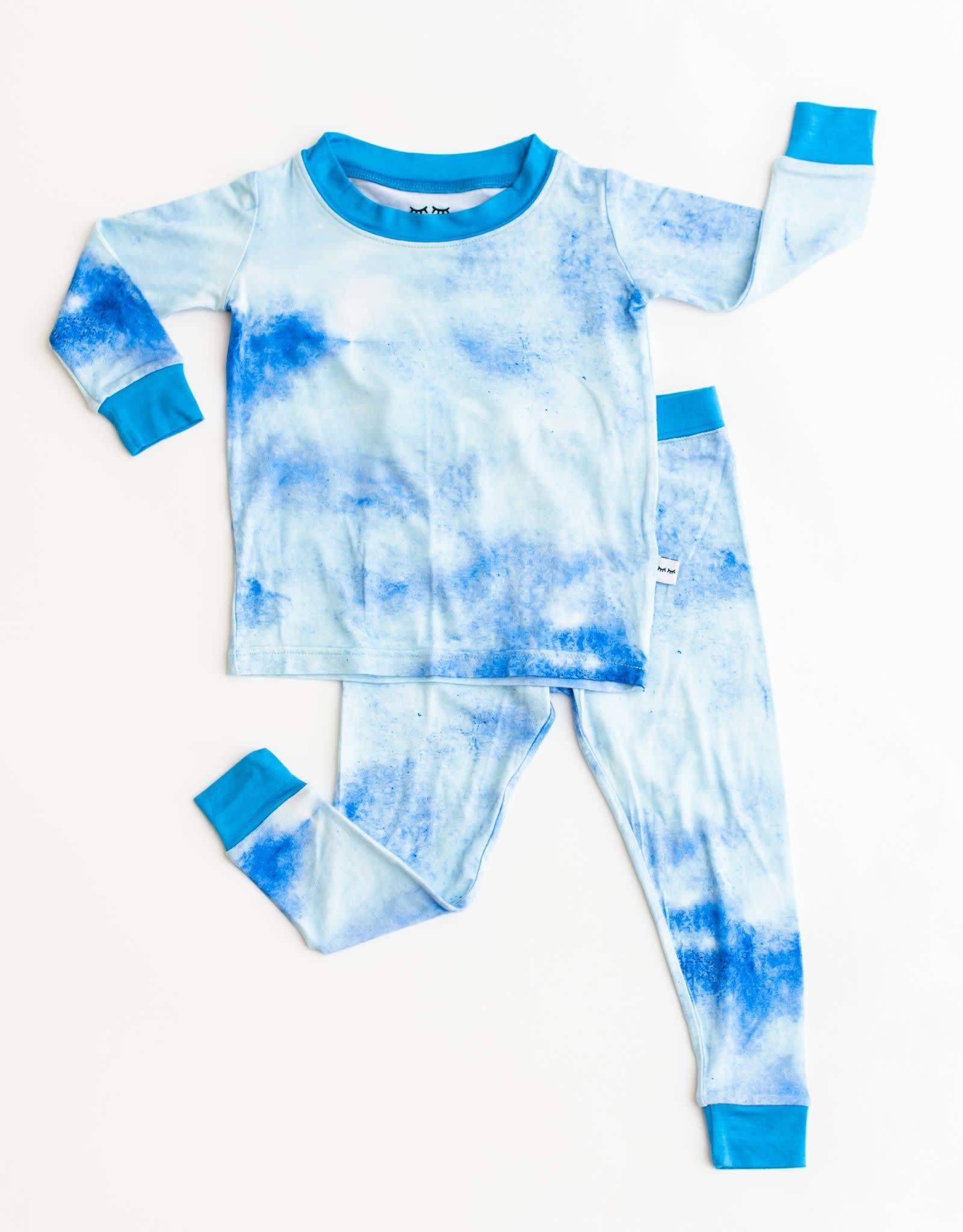 Little Sleepies blue watercolor pajamas