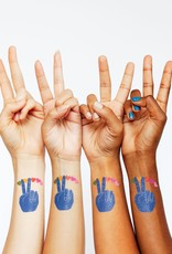 Tattly tattoo pair- peace & love