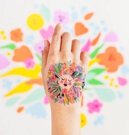 Tattly tattoo pair- floral lion