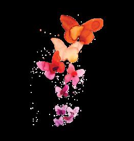 Tattly tattoo pair- coral butterflies