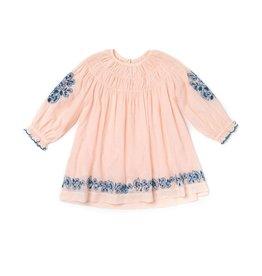 Lali Kids tulip dress- pink swiss dot