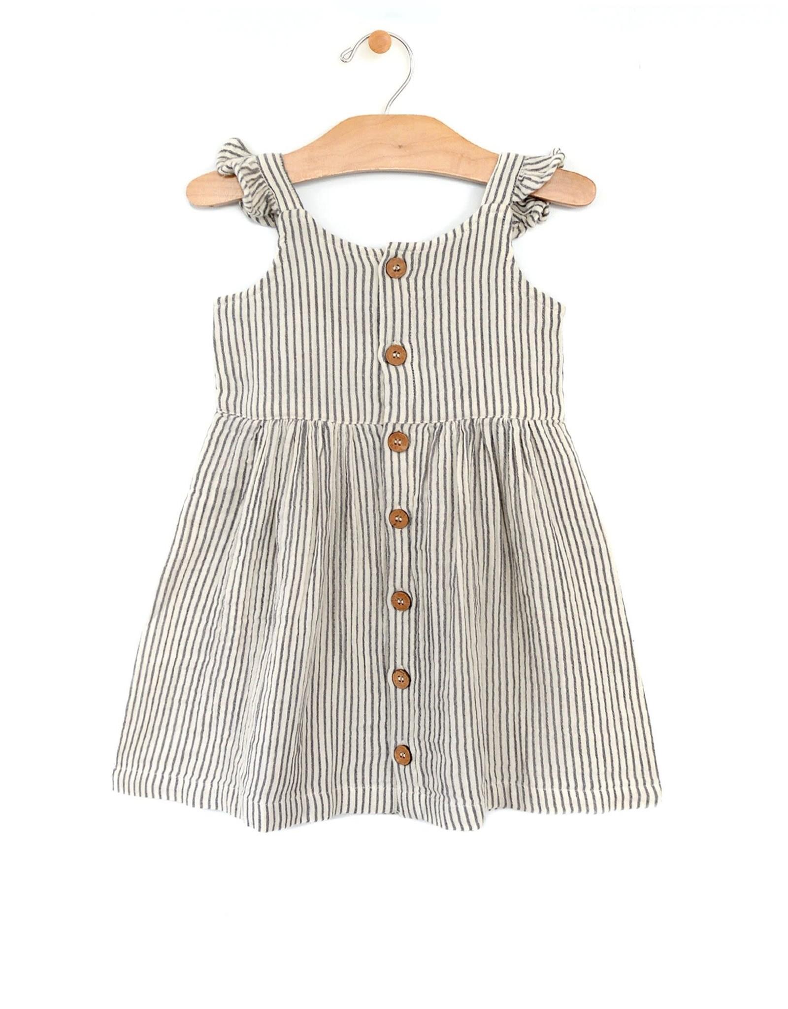 City Mouse cross back dress- stripe