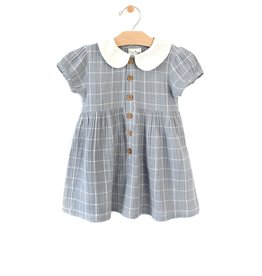 City Mouse button dress- windowpane