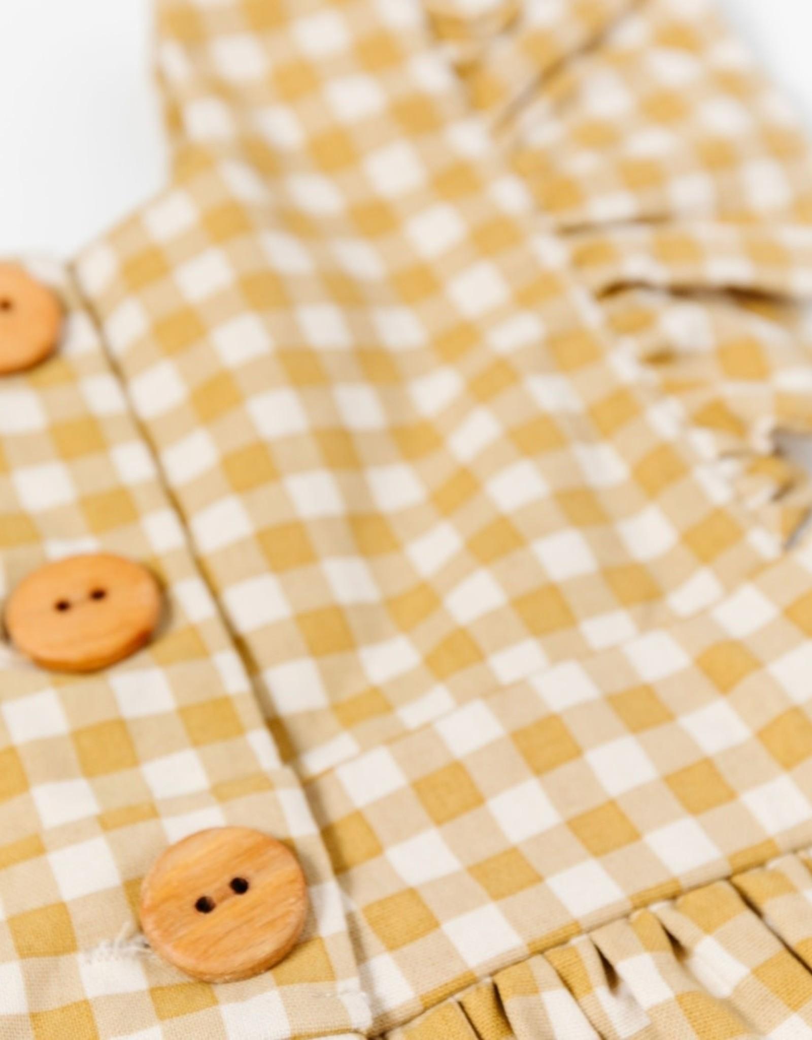 wren & james pinafore- honey gingham