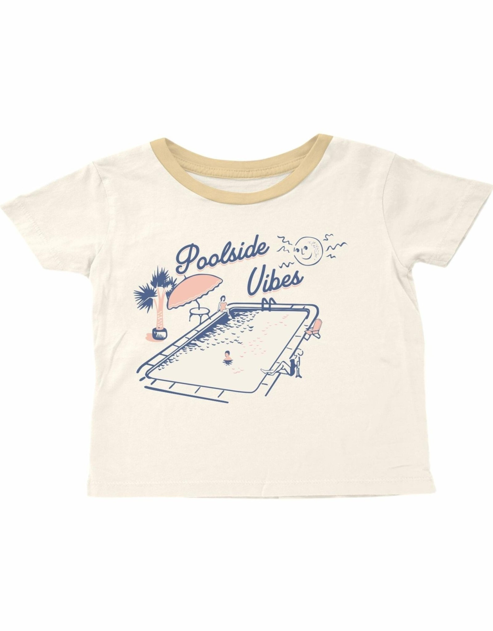 Tiny Whales poolside vibes tee