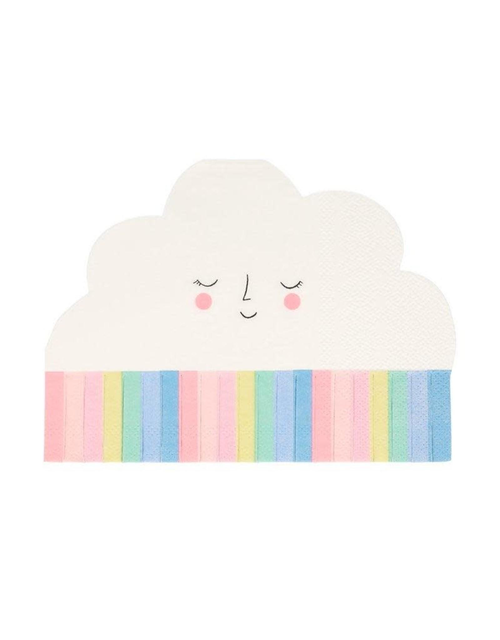 Meri Meri rainbow cloud napkin