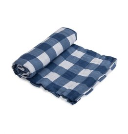 Little Unicorn cotton muslin swaddle- jack plaid