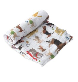 Little Unicorn cotton muslin swaddle- woof