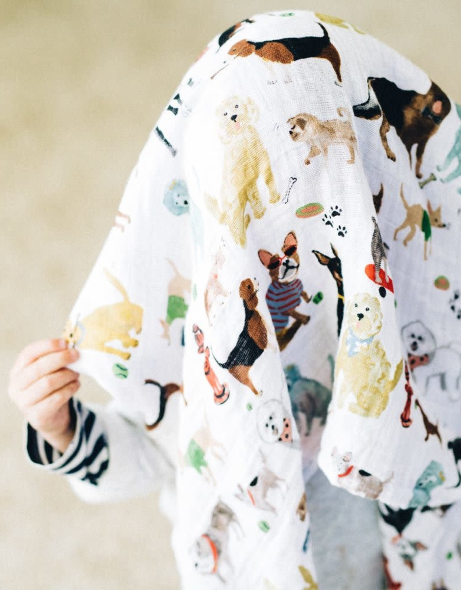 Little Unicorn cotton muslin swaddle- woof