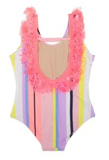 Shade Critters fringe back onepiece- stripe