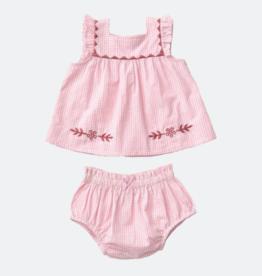 Pink Chicken marabella set- pink gingham