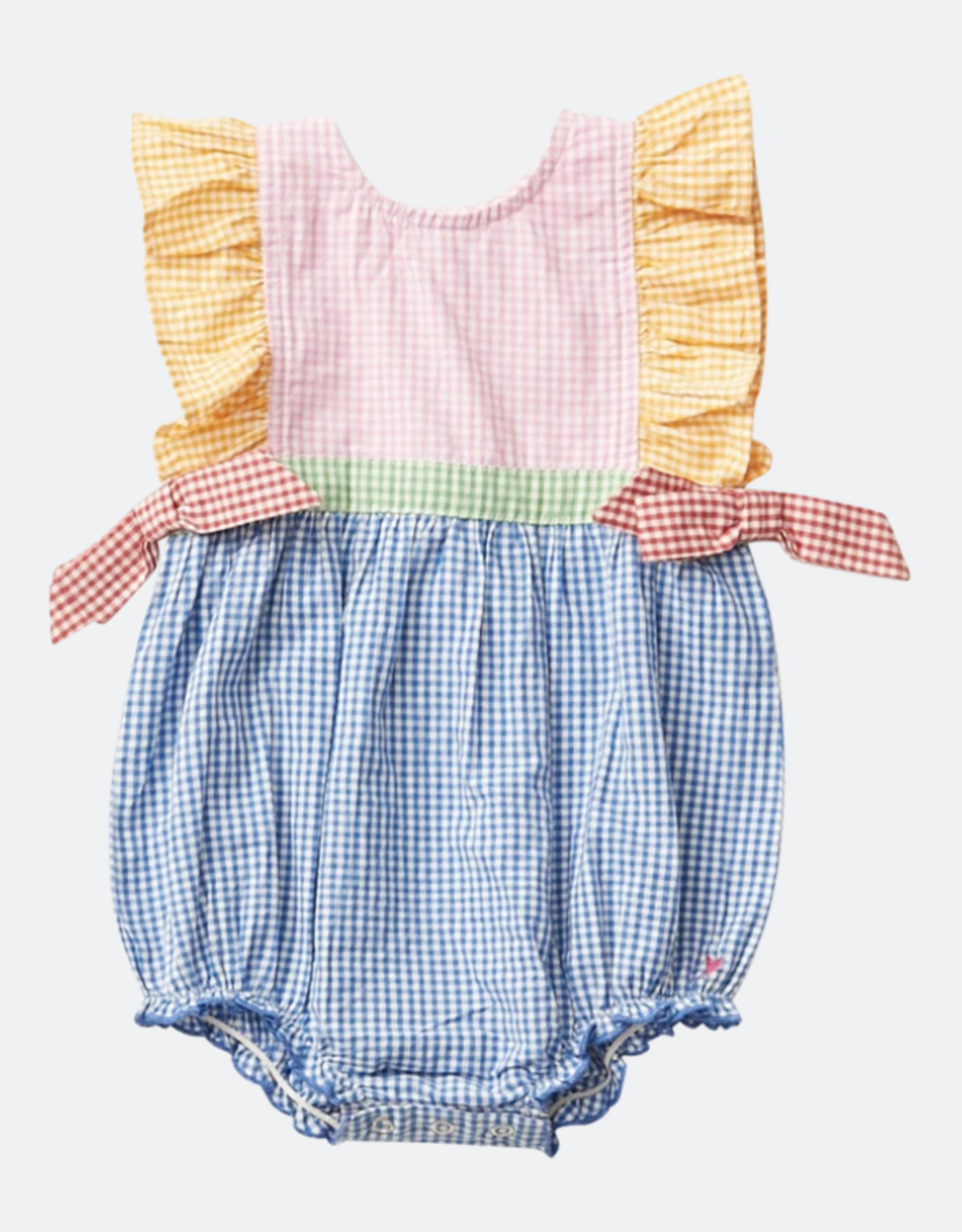 Pink Chicken amy bubble- mixed gingham
