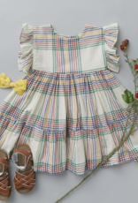 Pink Chicken kit dress- multi plaid