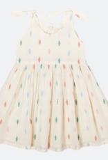Pink Chicken taylor dress- white multi