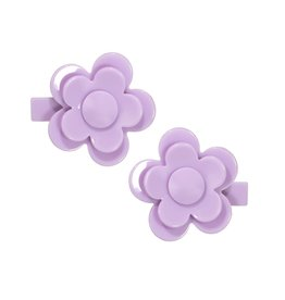 Lilies & Roses camelia flower hairclips- lavender