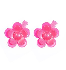 Lilies & Roses camelia flower hairclips- hot pink