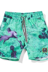 Munster Kids liquify boardshort- green