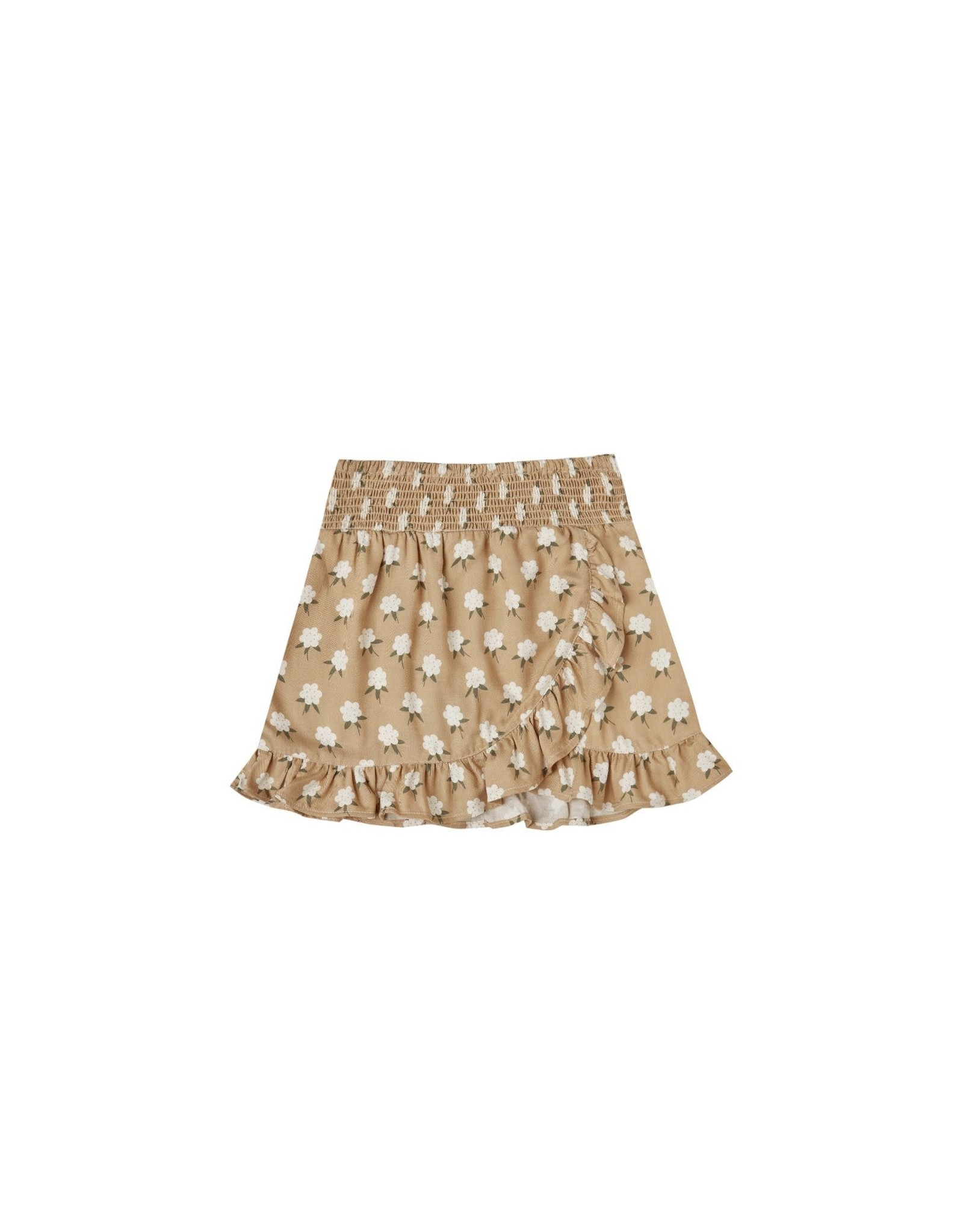 Rylee and Cru white flora wrap skirt