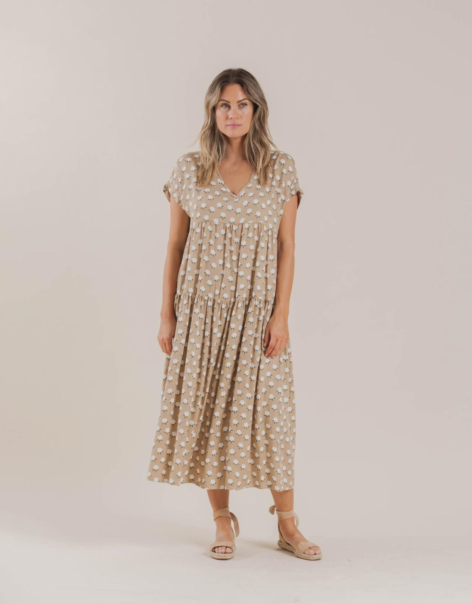 Rylee and Cru white flora vienna dress