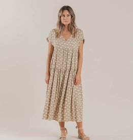 Rylee and Cru white flora vienna dress