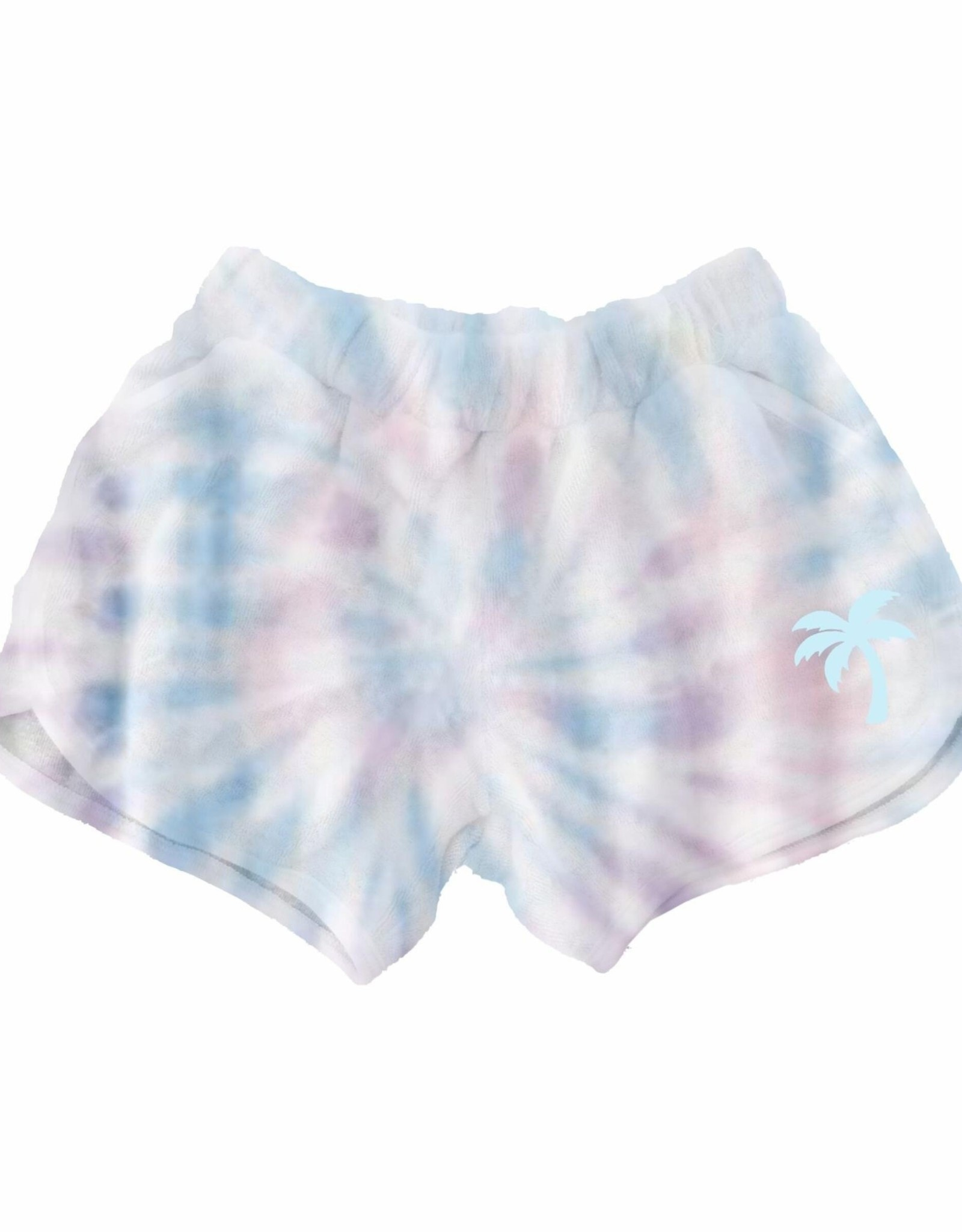 Tiny Whales sunset tie dye shorts