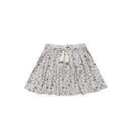 Rylee and Cru blue floral mini skirt
