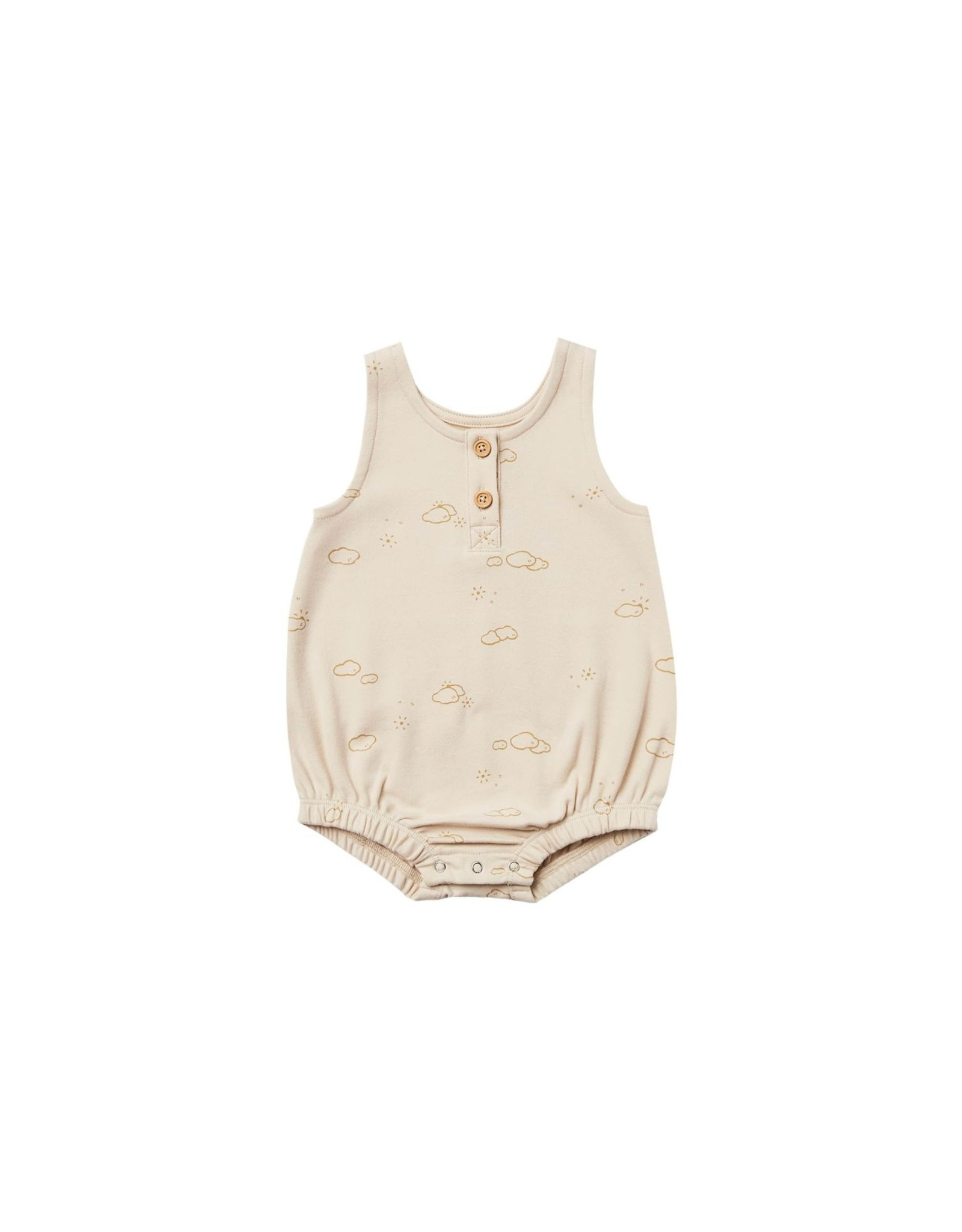Quincy Mae bubble onesie- natural