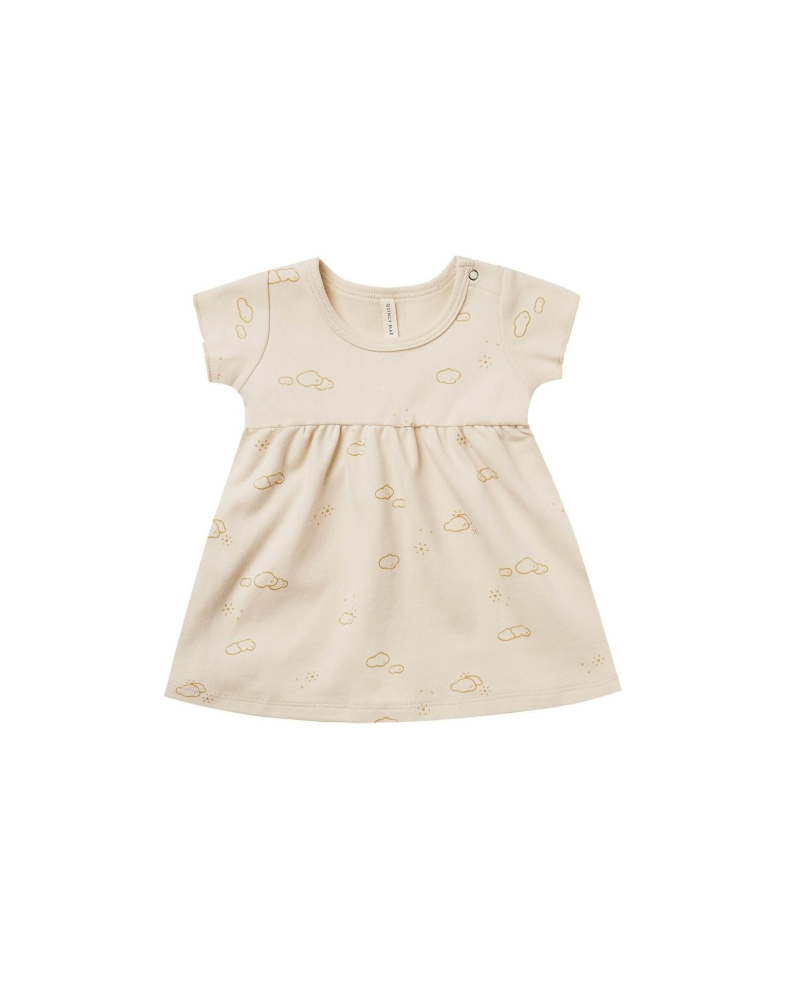 Quincy Mae ss baby dress- natural