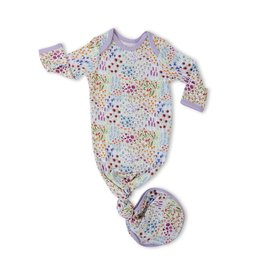 Little Sleepies knotted gown- flower fields