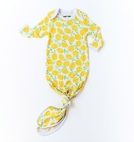 Little Sleepies knotted gown- lemons