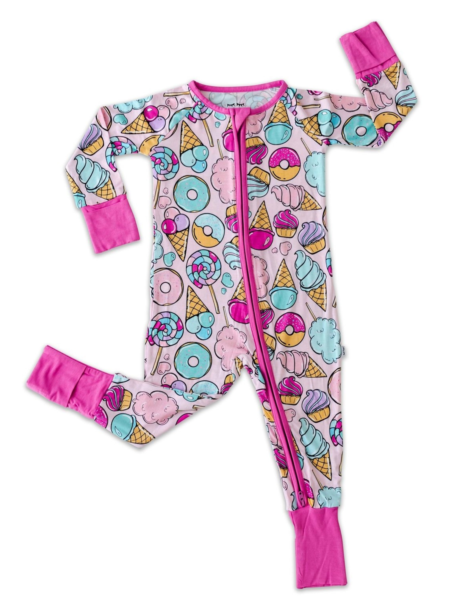Little Sleepies pink sweet treats zippy