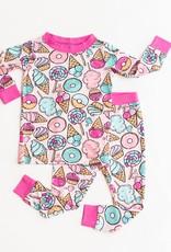Little Sleepies pink sweet treats pajamas