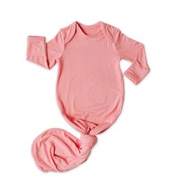 Little Sleepies knotted gown- bubblegum