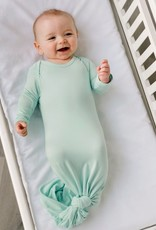 Little Sleepies knotted gown- aquamarine
