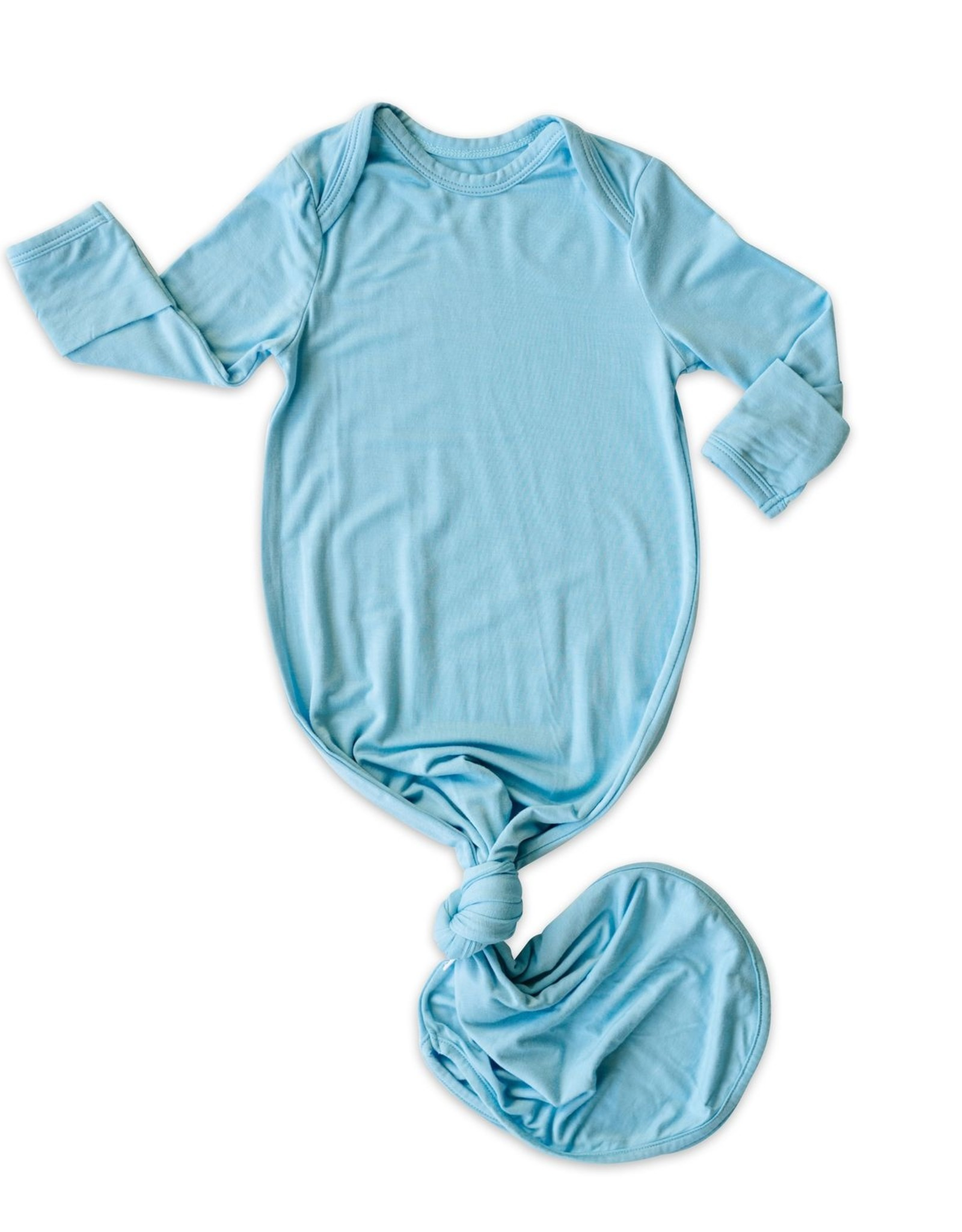 Little Sleepies knotted gown- sky blue