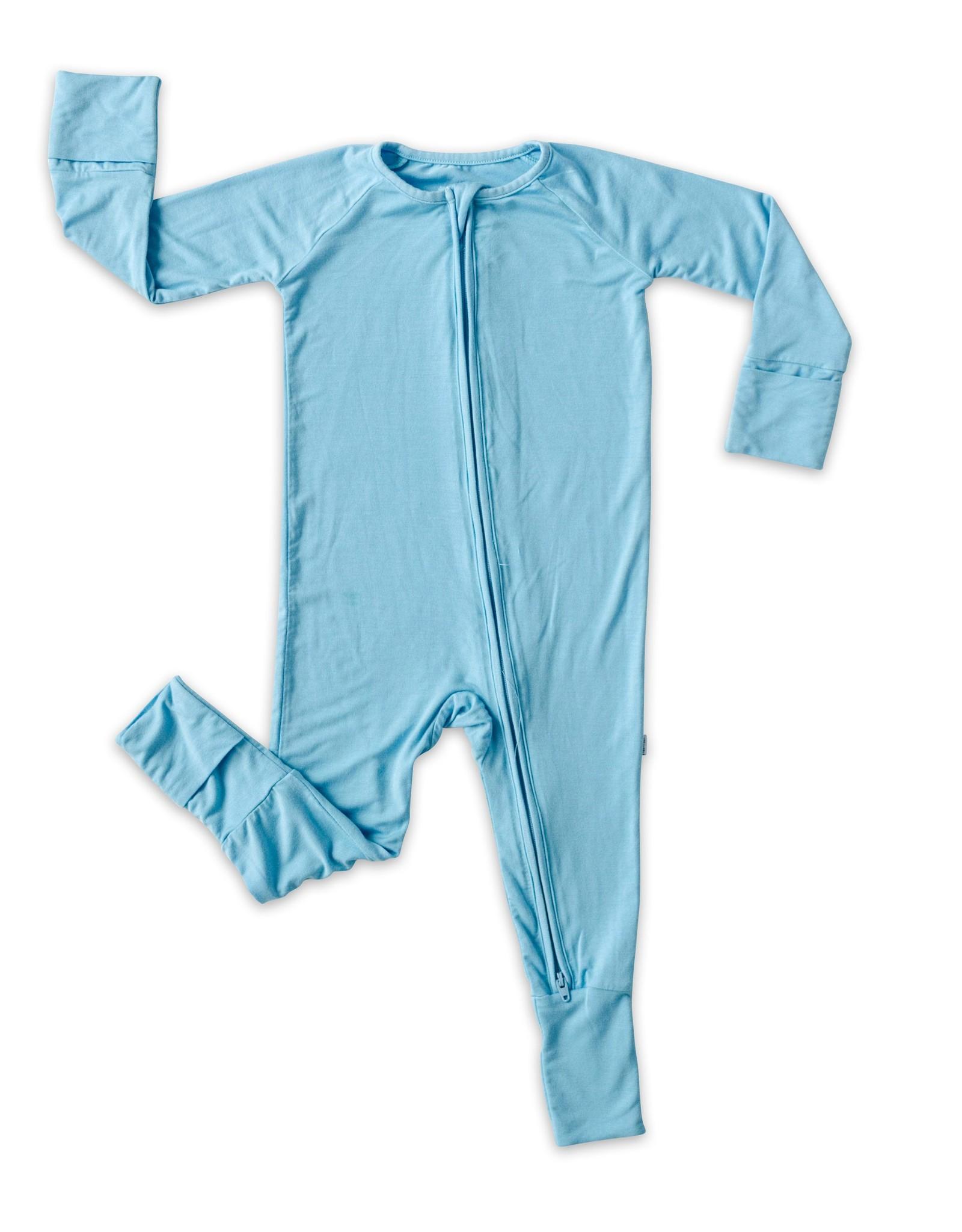Little Sleepies sky blue zippy