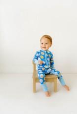 Little Sleepies blue milk and cookies zippy