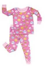 Little Sleepies pink milk and cookies pajamas