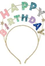 Meri Meri happy birthday glitter HB