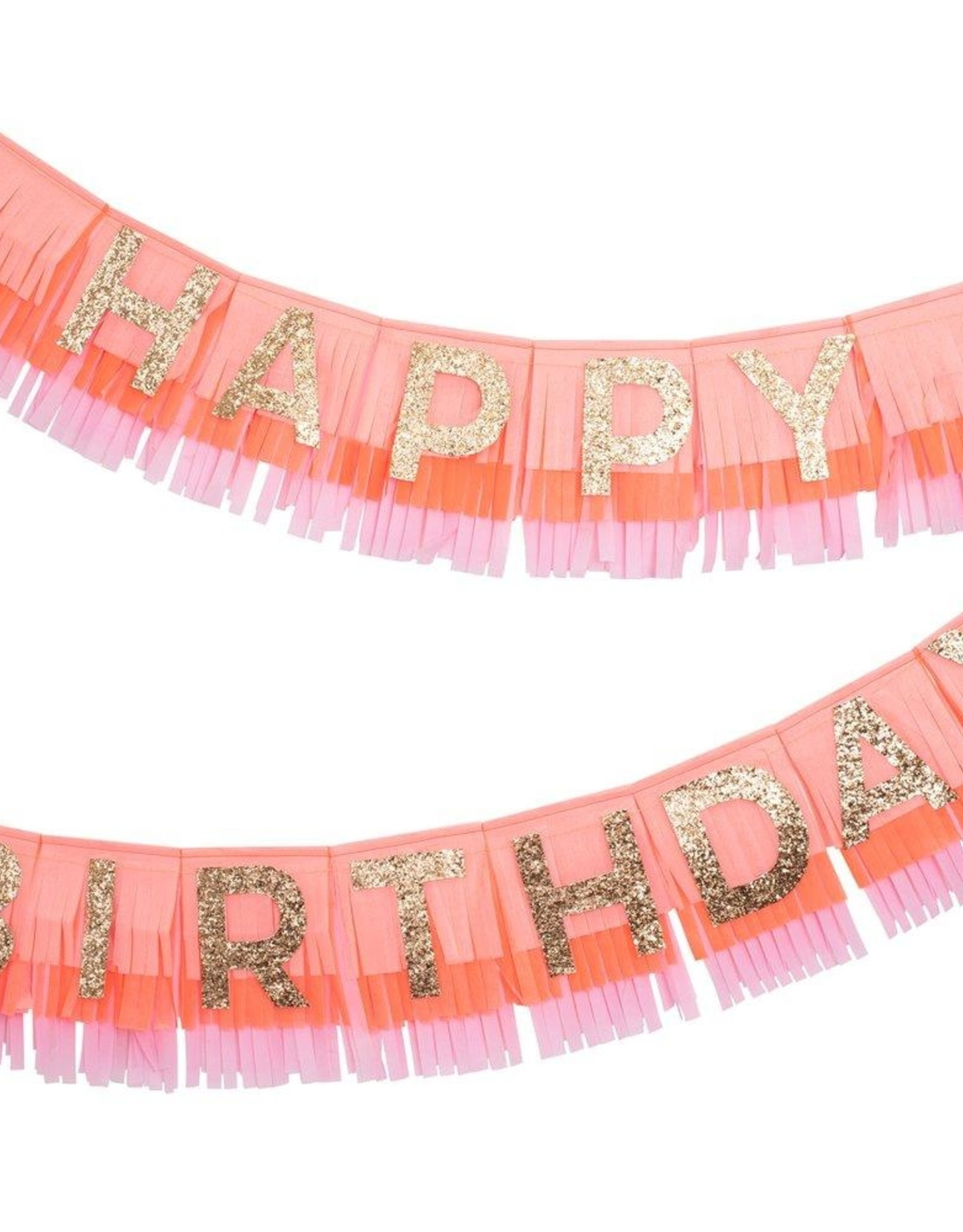 Meri Meri pink happy birthday garland