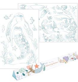Meri Meri mermaid coloring poster