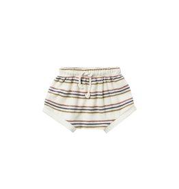 Quincy Mae terry shorts- retro stripe