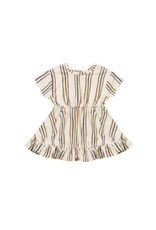 Quincy Mae terry dress set- retro stripe