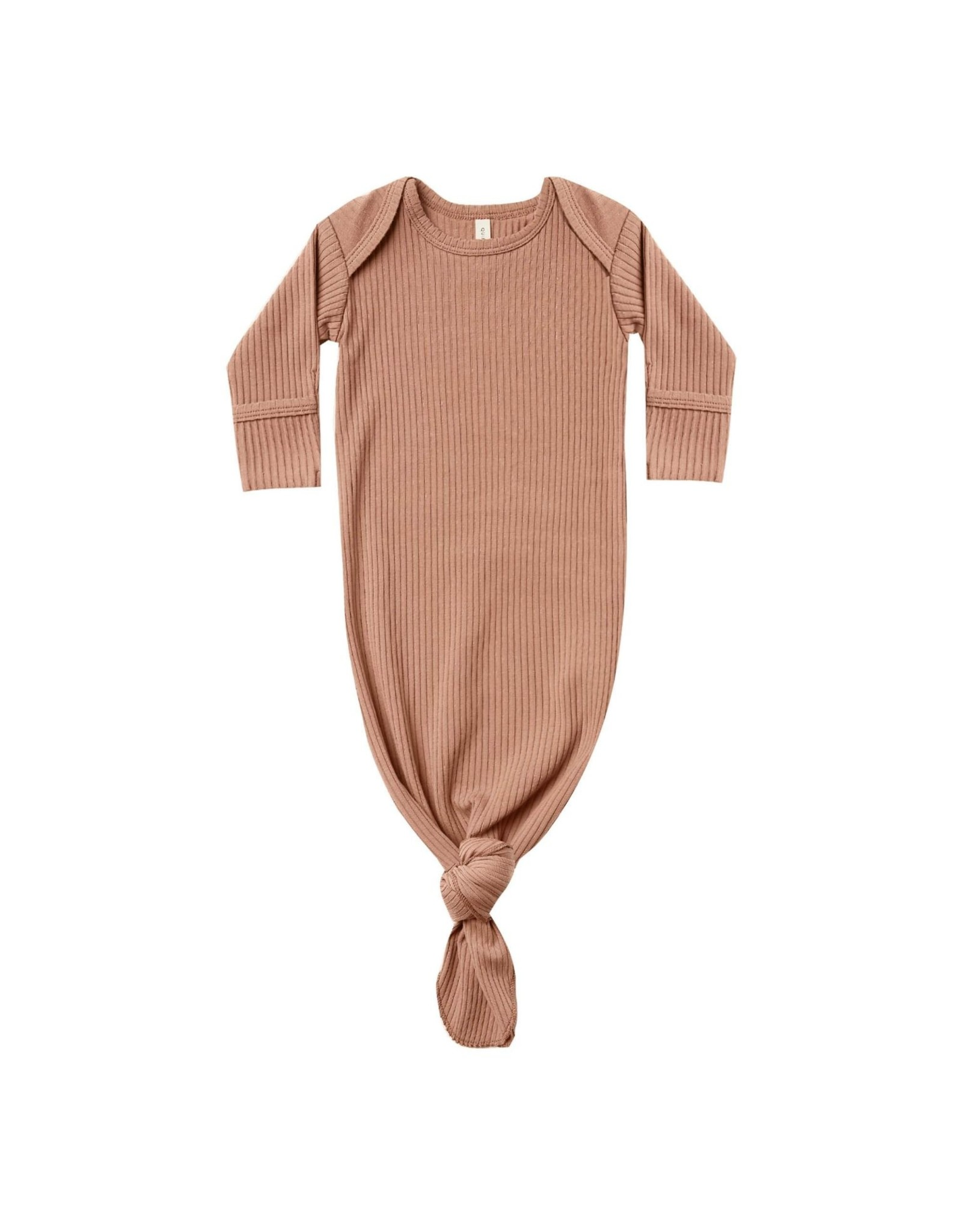 Quincy Mae ribbed gown- terracotta