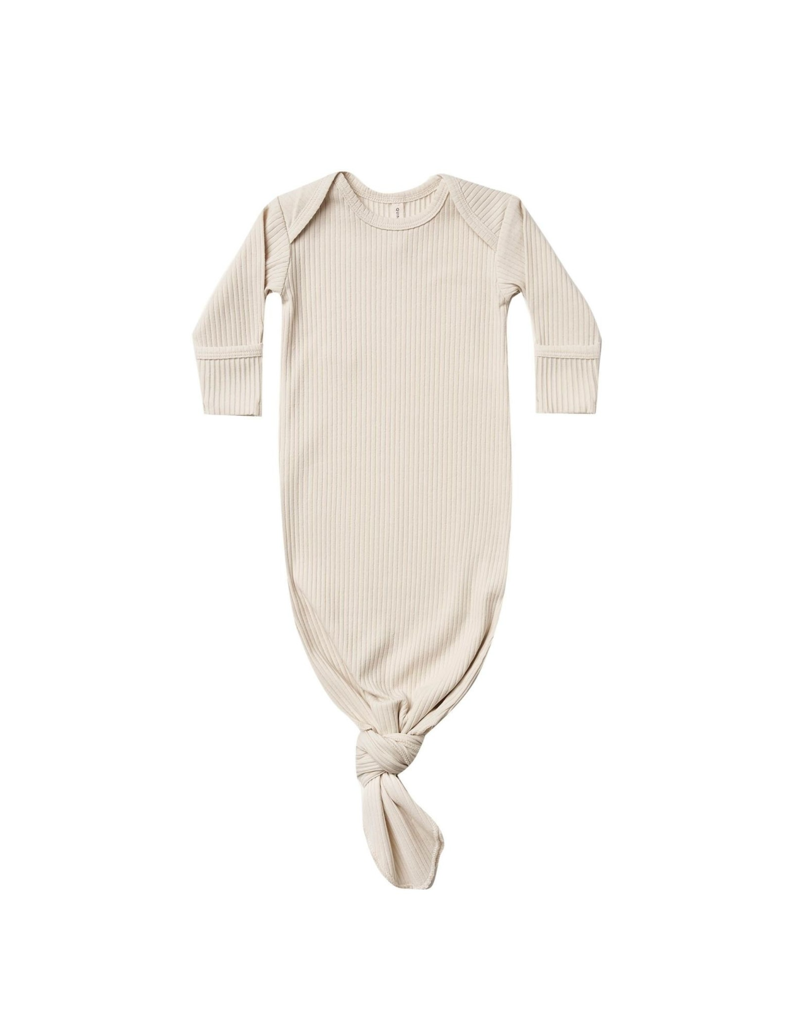 Quincy Mae ribbed gown- natural