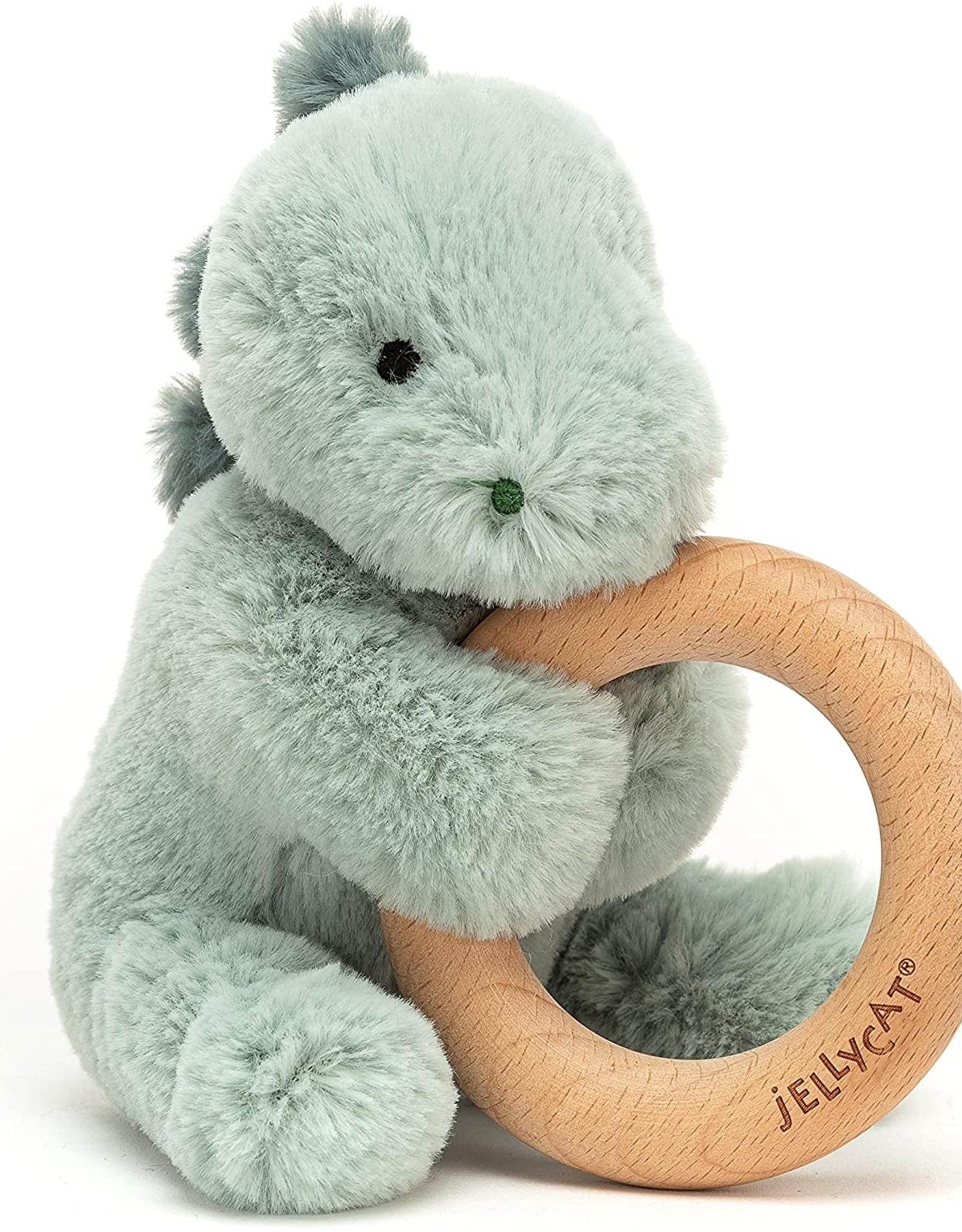 Jellycat puffles dino wooden ring