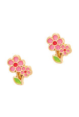 Girl Nation pink flowers studs