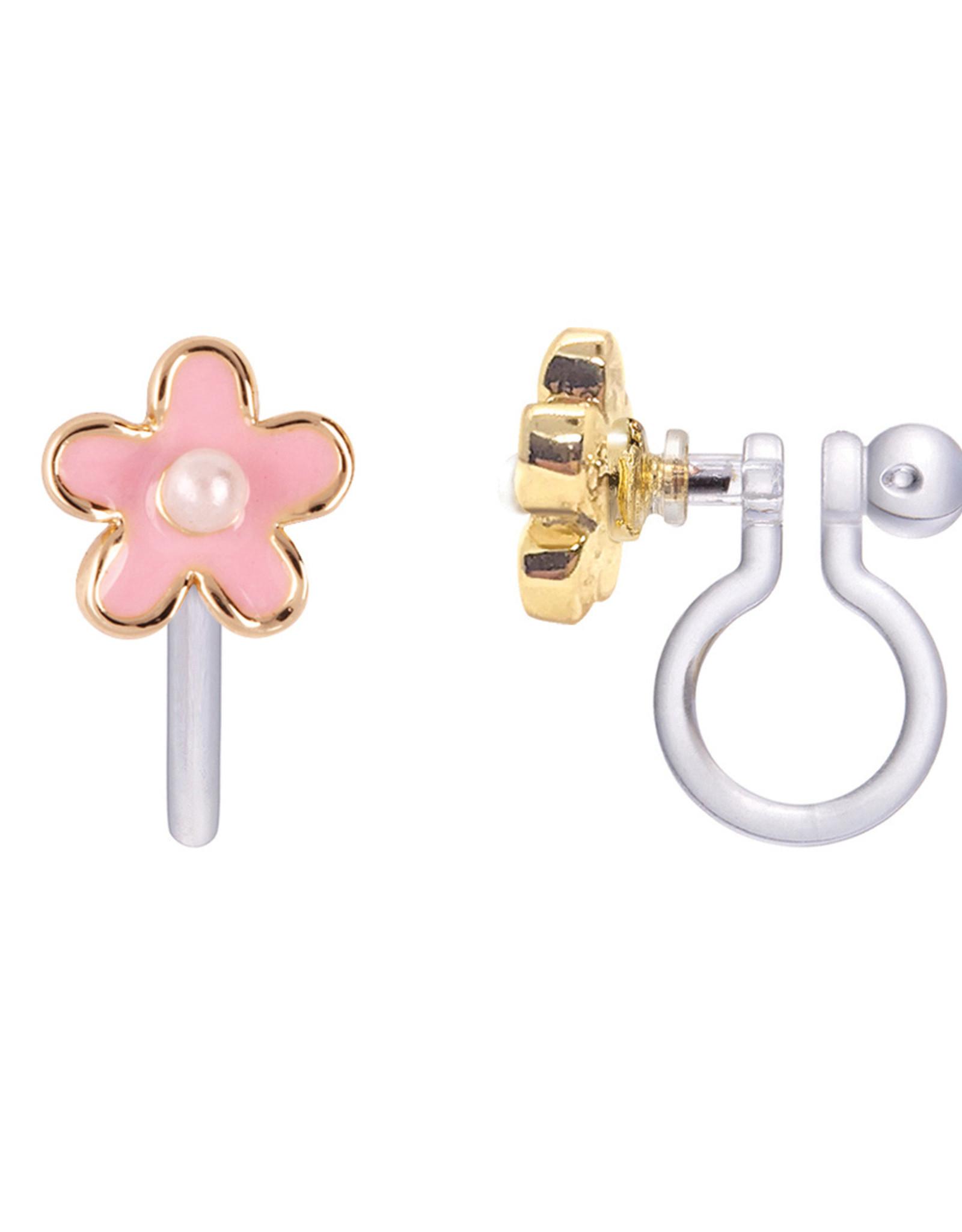 Girl Nation pink fancy flower clip-on