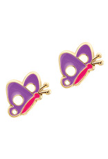 Girl Nation butterfly studs