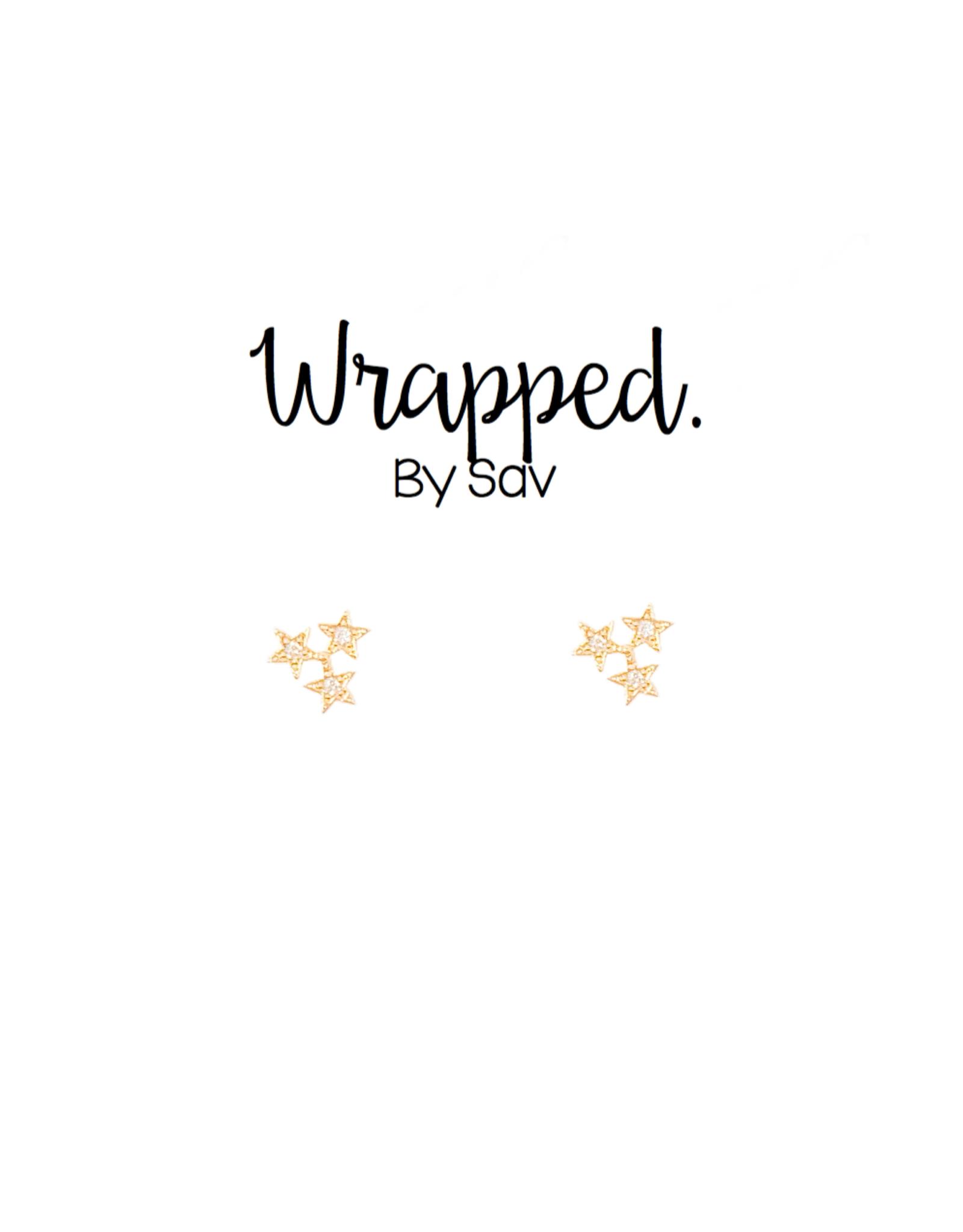 Wrapped by Sav star trio studs